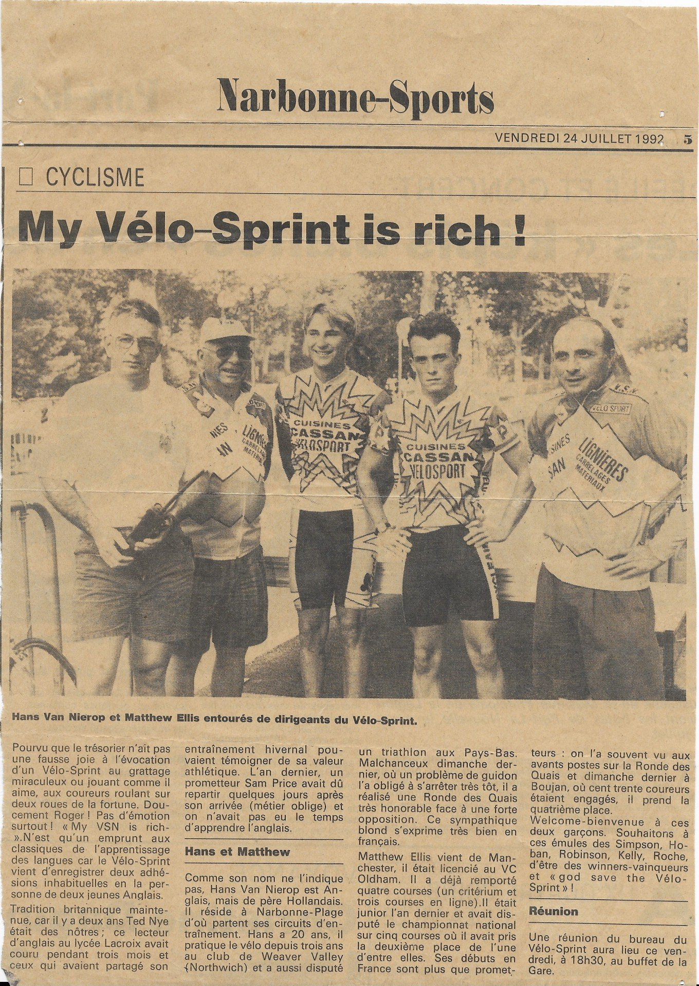 From the old days to Vanelli Cycling